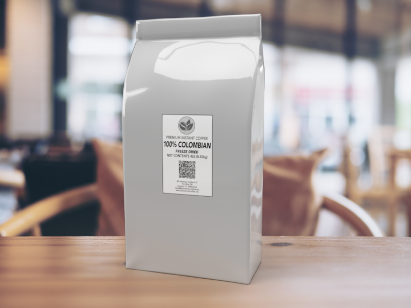 4lb - Rich Flavor Freeze Dried Instant Coffee.